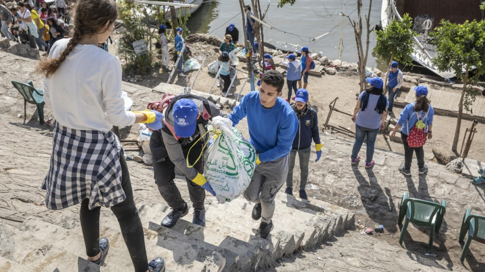 In a single day, volunteers removed  11.5 tonnes of waste from the river.