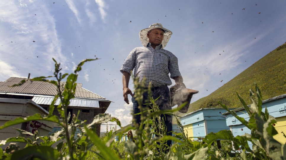 After years of being stateless, Abdusmat Saparov can finally work as a beekeeper.