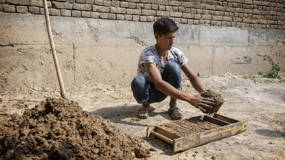 Nazir was forced to make ends meet by building clay brick houses.