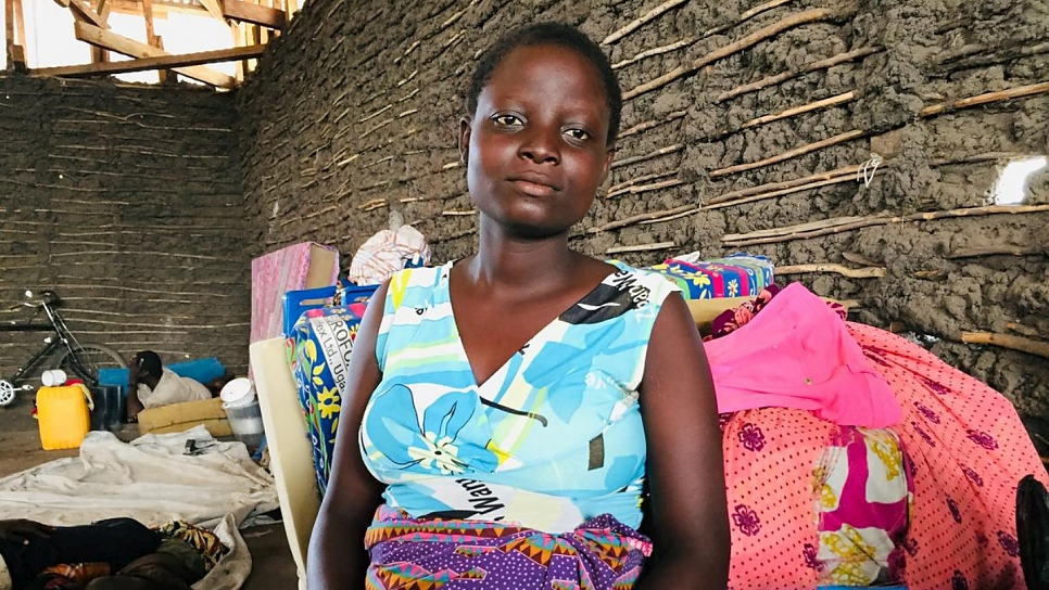 Sifa Dorika, 18, fled her village and found safety in a church in Kasenyi.