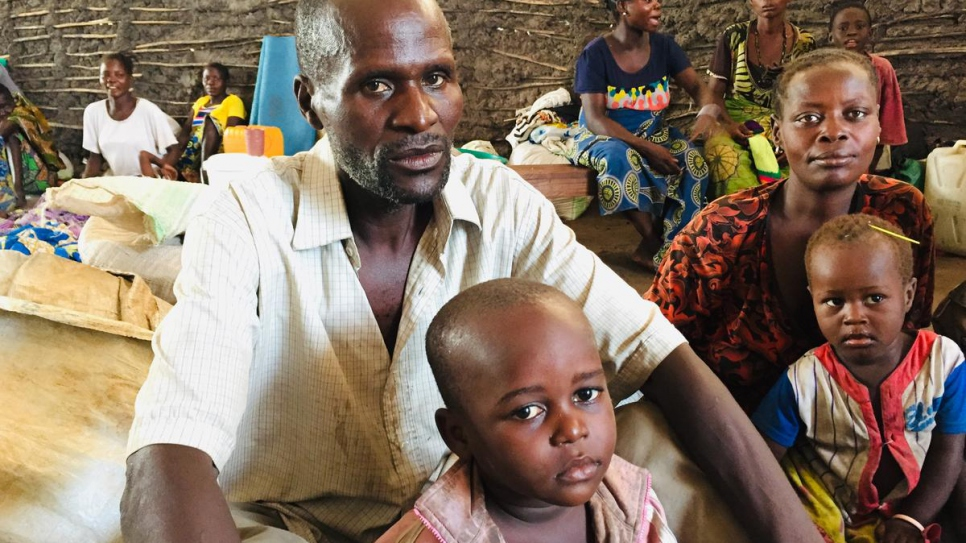Dheka Ndjengu, 49, fled home with his eight children. His 25-year-old son died.