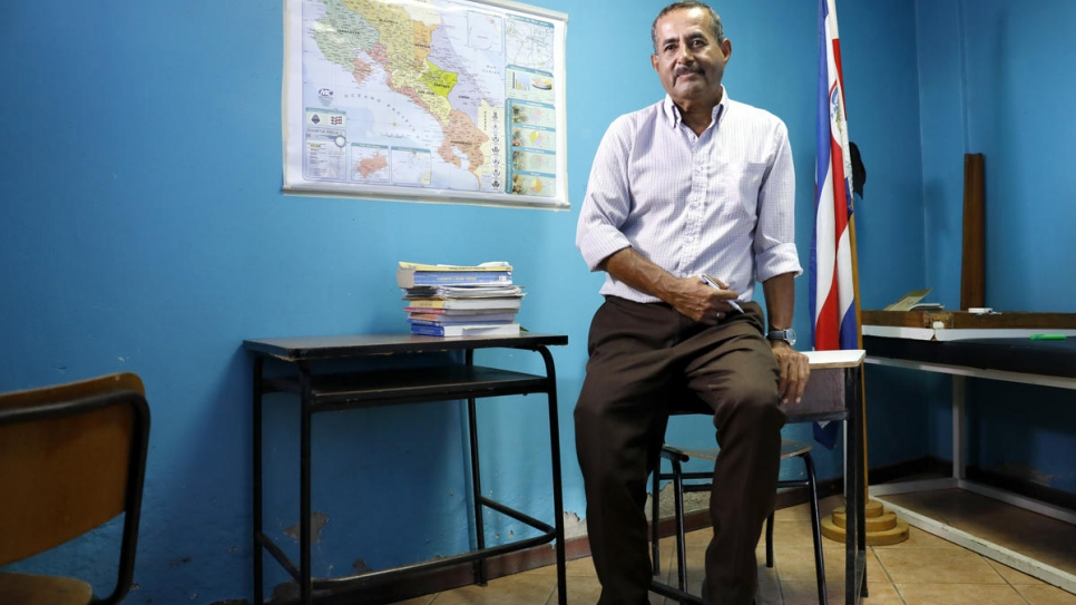 Nicaraguan law professor Carlos* now works as a teacher giving remedial high school classes to local teens in San Jose, Costa Rica.