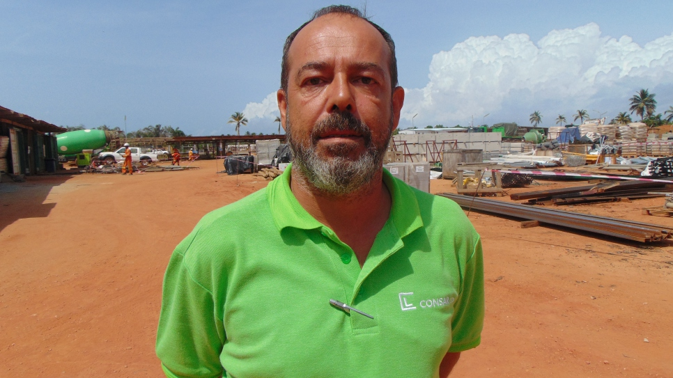 Consar Ghana Limited's Project manager, Ivan Del Monaco at the project site. Del Monaco has employed refugees for five years and sees them as valuable additions to the company.