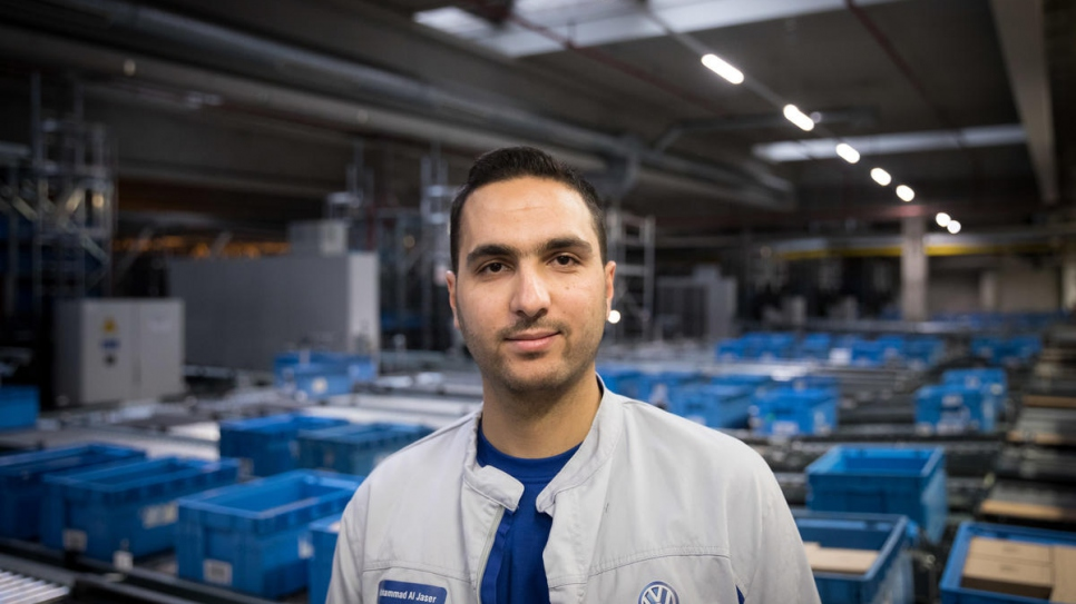 Mohammad Al Jaser, a trainee at the VW plant in Baunatal, Germany.