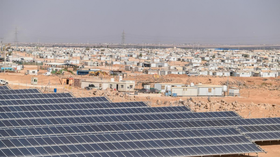 Jordan. Za'atari goes green with inauguration of solar power plant