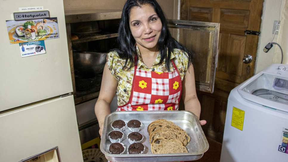 Deilys, who was forced to flee Venezuela, has started a vegan dessert business in her new home, Ecuador.
