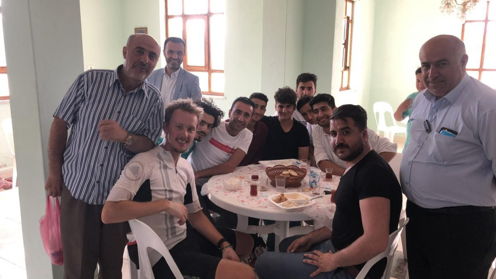 Welcomed into local mosque for dinner, Tosya, Turkey.