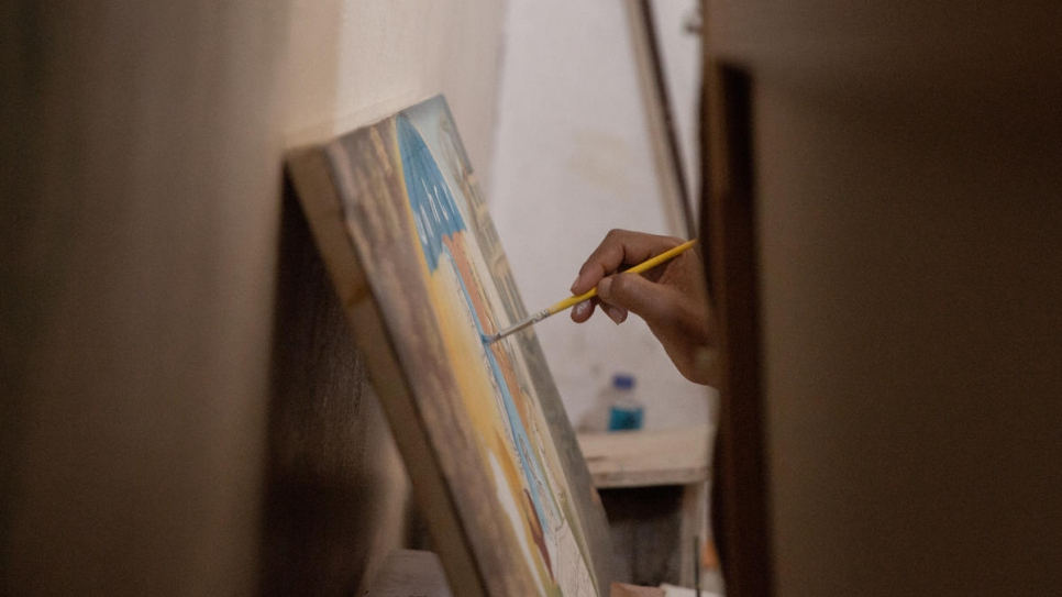 "Painting for me means life, I don't want to be separated from it,"" Solomon explains."