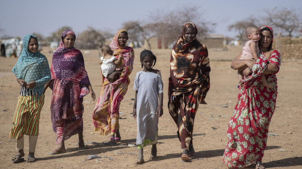 Malian refugees in Goudoubo camp, Burkina Faso.