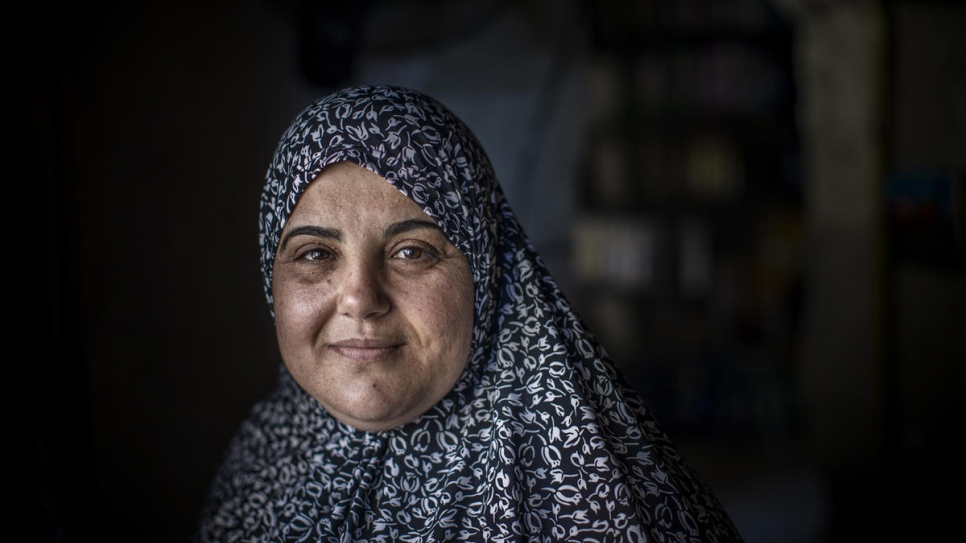 Syrian refugee Bodour al-Qader fled Homs in 2012 and is one of Kawkab's regular customers.