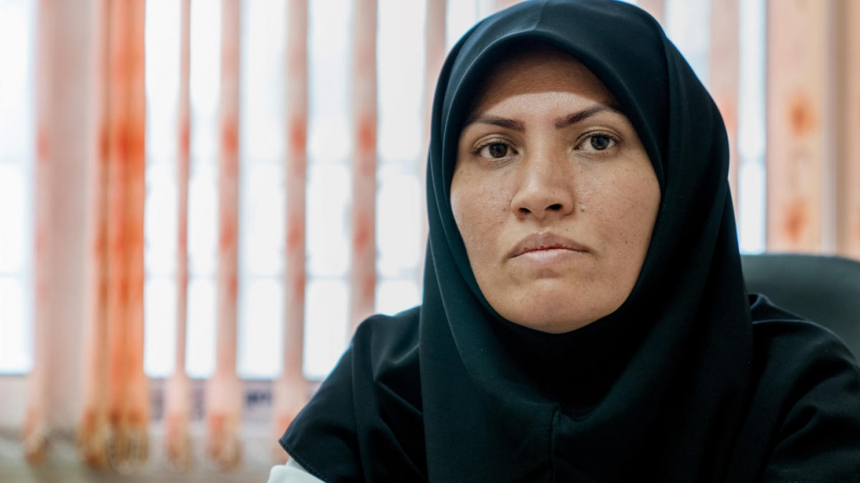 Feezeh Hosseini is the only Afghan refugee doctor in Iran's Esfahan province.