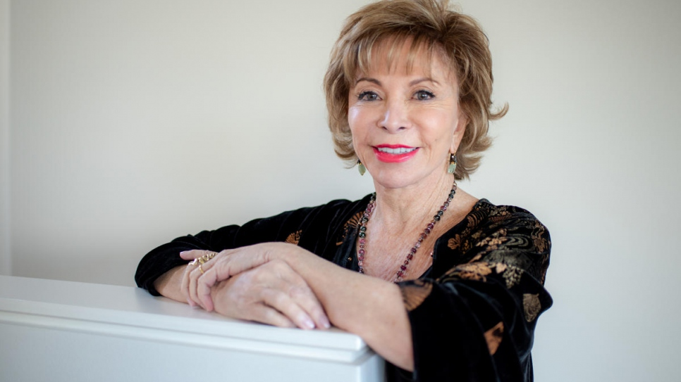 Chilean novelist Isabel Allende delivered a very personal keynote speech about her family's history of displacement at the virtual Nansen Award ceremony.