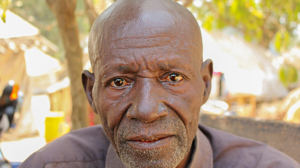 Central African refugee, Joseph, 74, has escaped violence thrice in his life. He recently escaped to the village of Ndu in the Democratic Republic of Congo.