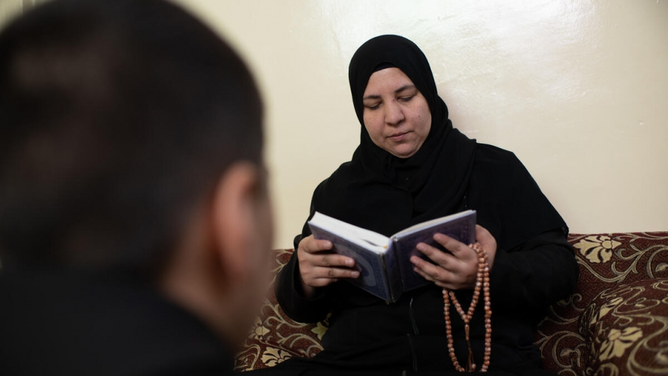 Jameela, a mother of four, lost her husband in the conflict in Syria and was forced to flee to Jordan