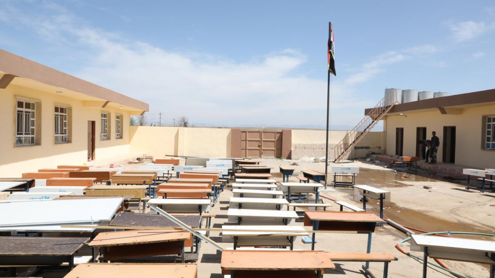 A primary school in Risala village, in Iraq's Nineveh Governorate, which has been rehabilitated with support from UNHCR.