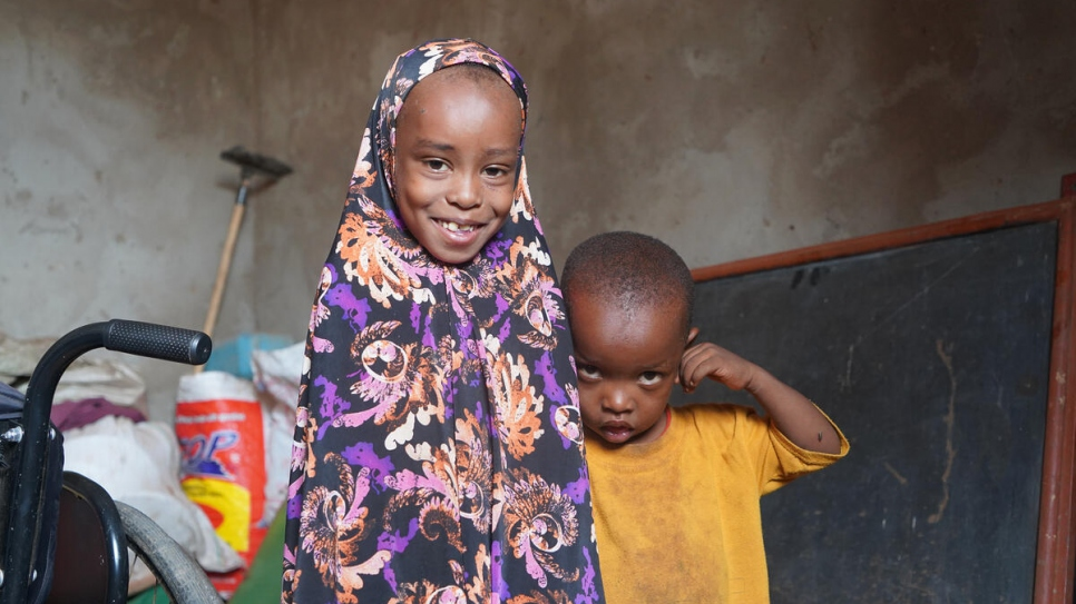 """""""This electricity has really improved life,"""" says Fatuma. Having light at night means her younger children can study and do their homework."""