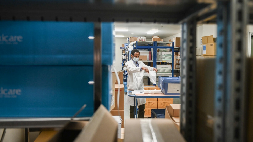 Yonas works in the pharmacy at Robert Schuman Hospital in Luxembourg City, which distributes COVID-19 vaccines.