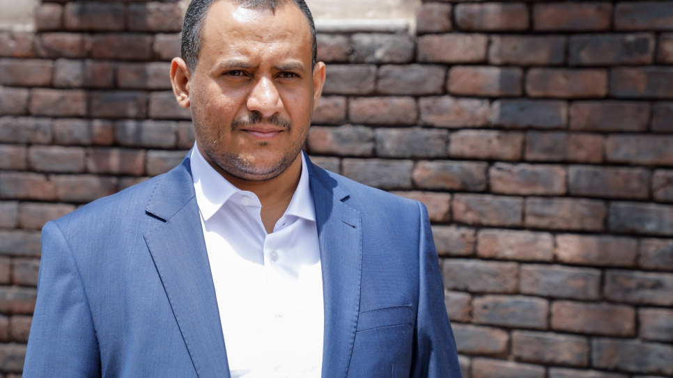 Head and co-founder of Jeel Albena, Ameen Jubran, 37, pictured in Sana'a, Yemen.