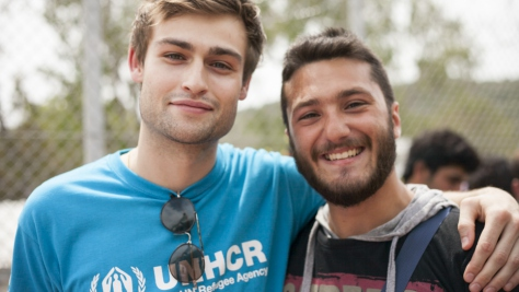 Greece. UNHCR High Profile Supporter Douglas Booth visits refugees