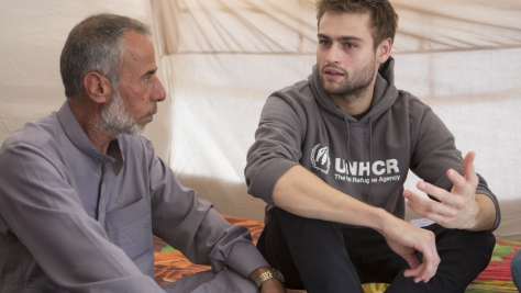 Iraq. UNHCR High Profile Supporter Douglas Booth visits refugees and IDPs