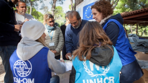 Greece. Distribution of winter items