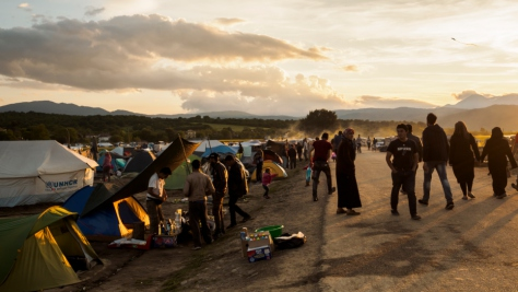 Greece. Refugees and migrants remain at Idomeni depsite the closure of the so-called Western Balkan route