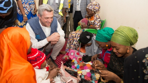 Nigeria. Visit of the UN High Commissioner for Refugees