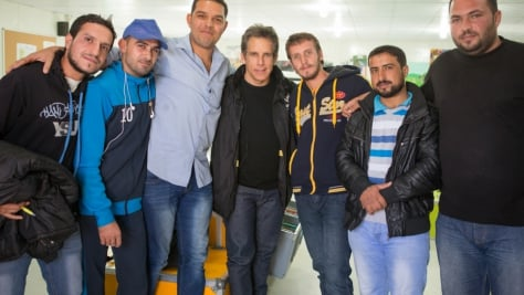 Jordan. UNHCR High Profile Supporter Ben Stiller visits refugees.
