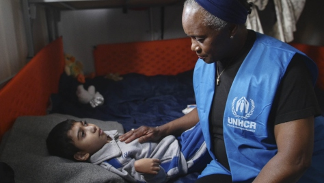 UNHCR Goodwill Amabassador Barbara Hendricks meets refugees in Greece