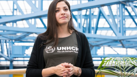 Switzerland. Refugee Olympian Yusra Mardini announced as UNHCR Goodwill Ambassador