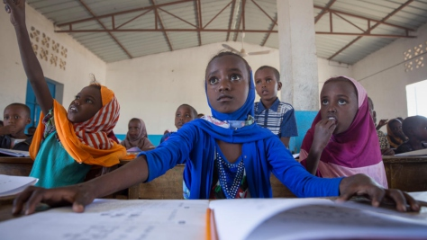 Djibouti. Education for refugees