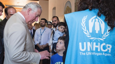 British Royals visit to refugees on Crete