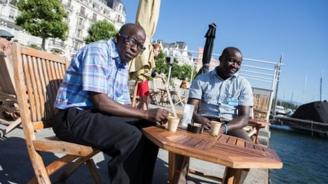 Switzerland. Thomas Nguli, chairperson of the previously stateless Makonde community visits Geneva, Switzerland.