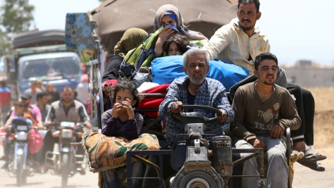 More than 320,000 Syrians have been displaced by the latest fighting in South West Syria.