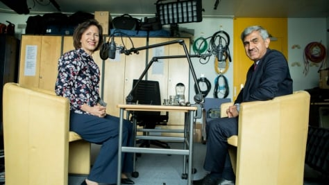 Switzerland. Melissa Fleming's podcast interview with Sajjad Malik.