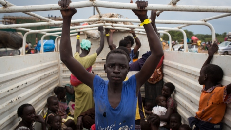 Uganda. Refugees from South Sudan arrive in northern Uganda
