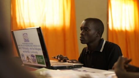 """Being online has really improved people's lives here – for us and the Ugandans,"" says Richard, 23."