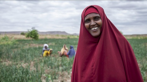 Ethiopia. Kaha cannot believe she is growing crops