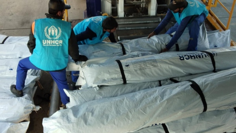 Pakistan. UNHCR launches massive airlift of tents for Afghanistan's drought-displaced