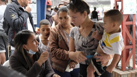 Ecuador. Venezuelan families begin new lives in exile