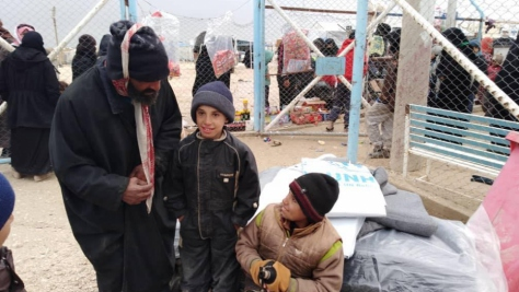 Syria. UNHCR responds to displaced people arriving to Al Hol camp in northern Hasskaeh