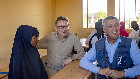 Ethiopia. UN Refugees Chief official visit to Somali region, Ethiopia