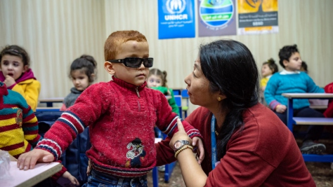 Syria. Supporting visually impaired children in Aleppo