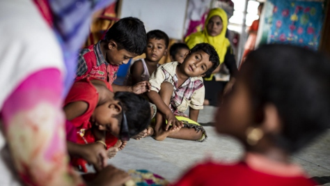 Bangladesh. Caritas' Essence of Learning (EoL) project helps Rohingya children restore and enhance their learning ability