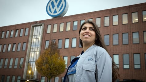 Germany. Refugee trainees steer towards bright future in auto industry.