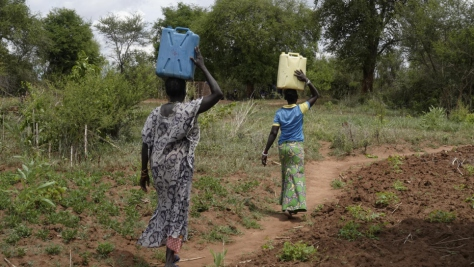 Uganda. Solar power delivers clean water to South Sudanese refugees' doorstep