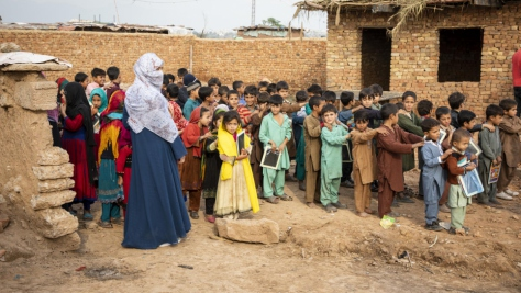 Pakistan. Afghan Refugees in Sector I-12 settlement