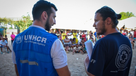 Brazil. UNHCR and partners hold information sessions with Warao community