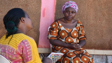 Refugee mothers in Kampala, Uganda, whose livelihoods have been impacted by the coronavirus lockdown.