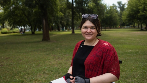 Ukraine. Activist for people with disabilities wins Nansen Europe regional prize